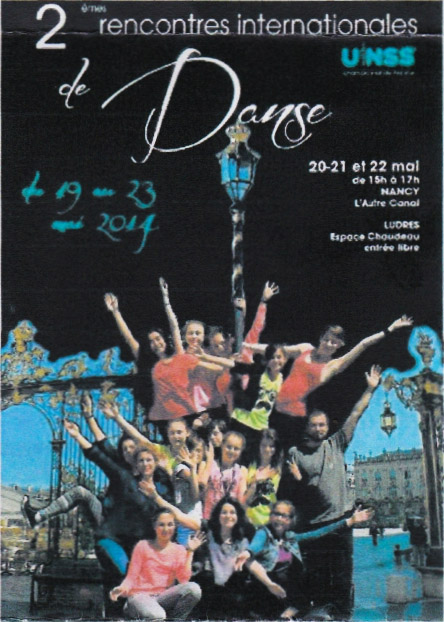 Affiche des Rencontres Internationales de Danse